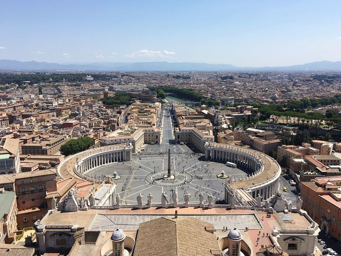 High Angle View Of St Peters Square In City