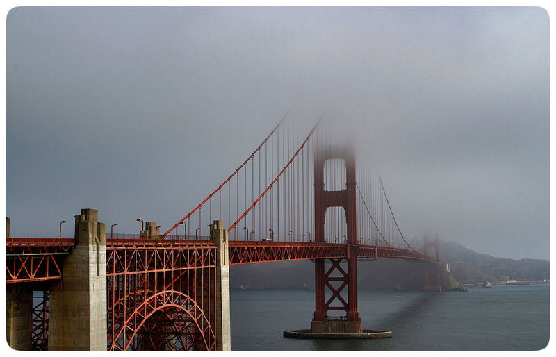 Golden Gate Bridge in the fog. Canon Photography