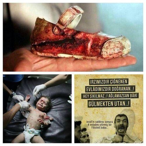 Çocuklar uyurken susulur ölürken değil...GazzedeKatliamVar