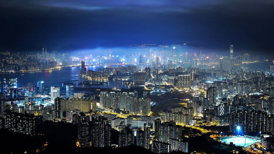 Hong Kong tonight City Night Outdoors Cityscape Building Exterior HongKong High Angle View Nikon Nikonphotography Nikond4s