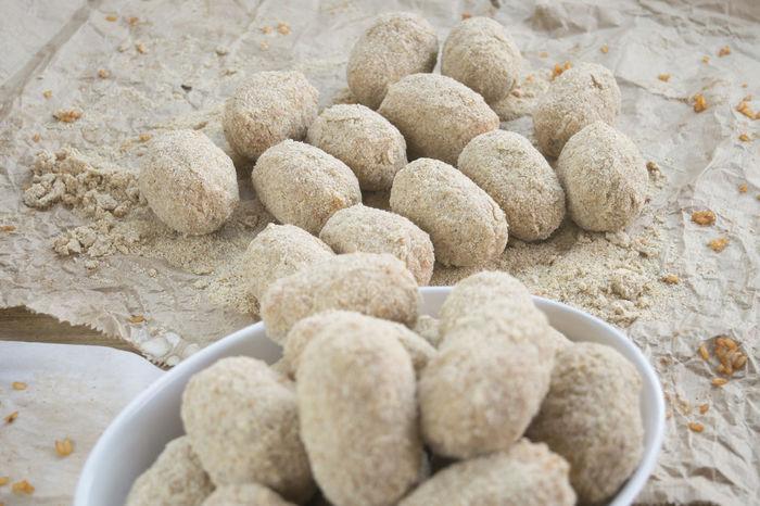 preparing sicilian arancini or rice balls Appetiser Appetizer Arancine Arancini Buffet Croquettes Fried Fry Preparing Rice Balls