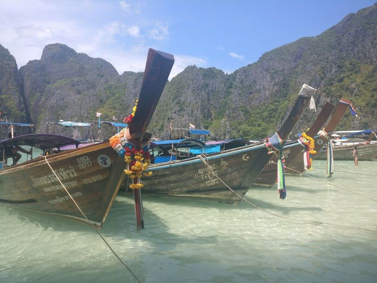 Beach Exotic Clear Water Boats Bay Traditional Boat No People Day Sky Outdoors