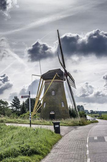 Dutch Windmill Architecture Cloud - Sky Nature Windmill Windmill Of The Day Dutch Windmill Netherlands, Historic Building Puttershoek Landscape EyeEmNewHere
