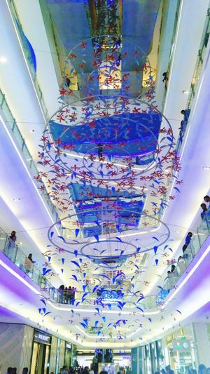 The Decorations Blue Beauty The Quest Mall Multi Colored Modern Art Symmetry