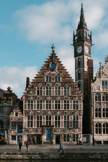 Gent Architecture Built Structure Building Exterior Building Cloud - Sky City Tower Travel Destinations Real People Day Clock Tower History Tourism Outdoors Travel Traveling Belgium Gent Old Buildings City Life House EyeEmNewHere EyeEm Best Shots EyeEm Selects EyeEm Gallery