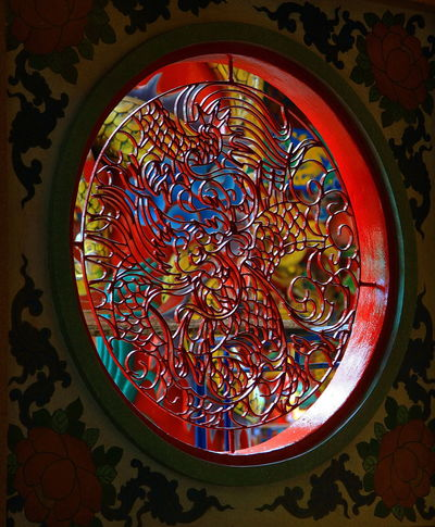 Chinese Window Ancient Art Chinese Style Chinese Window Colorful Culture And Tradition Indoors  No People Worship Place