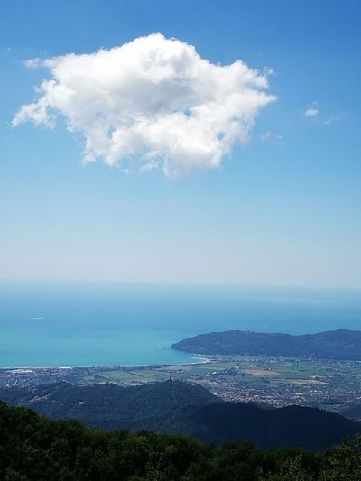Landscape #Nature #photography Sea And Sky Cloud Mountains Summertime From the Alps to the sea