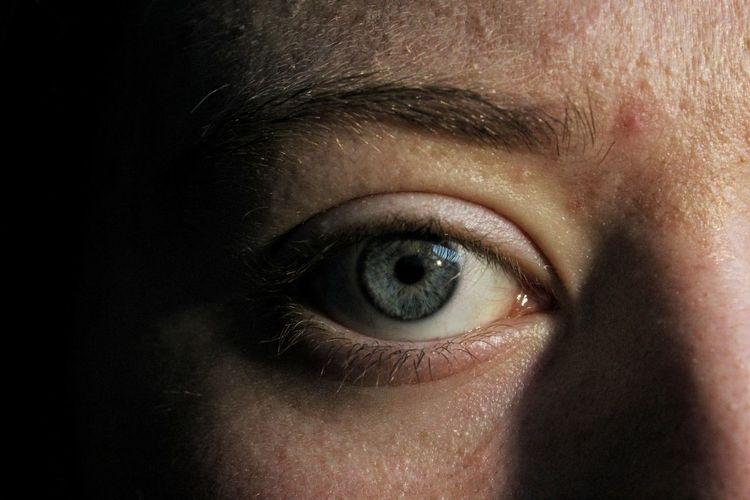 Close-up Extreme Close Up Extreme Close-up Eyebrow Eyelash Eyesight Human Eye Human Face Human Skin Iris - Eye Learn & Shoot: Balancing Elements Looking At Camera Portrait Sensory Perception