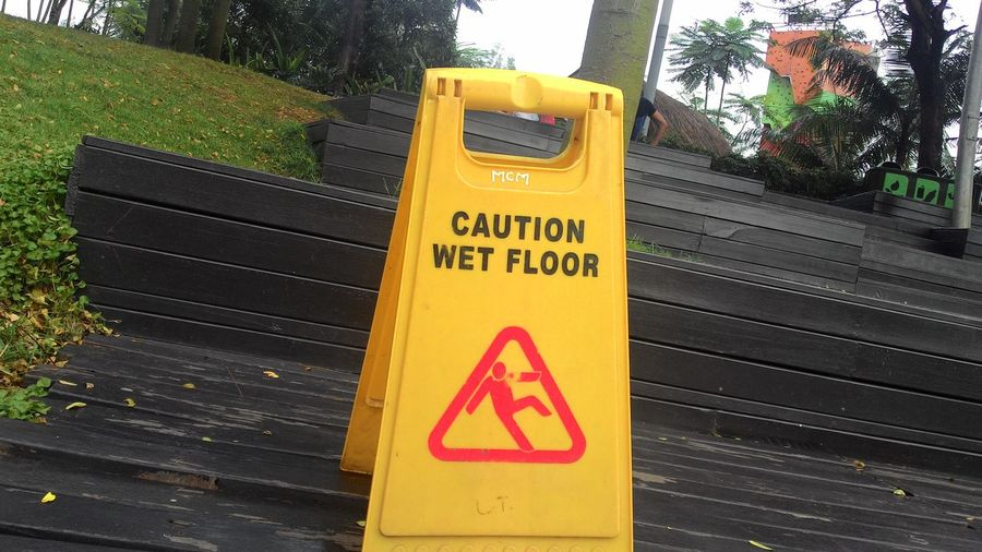 Visual Feast Danger Yellow Warning Sign Text Communication Outdoors No People Close-up Day Zenfone6 INDONESIA