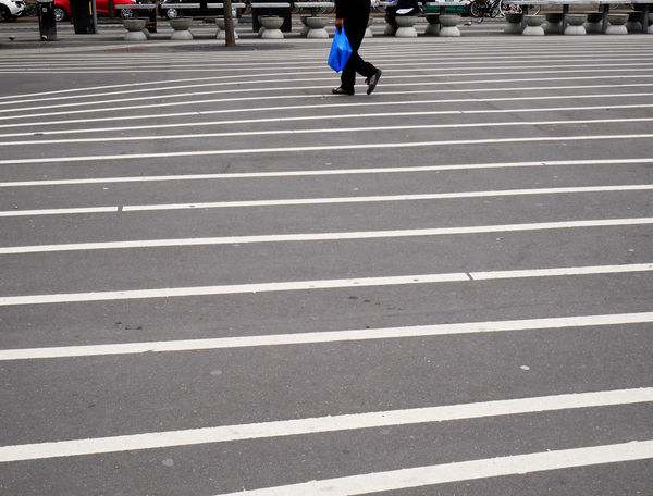 Mobility In Mega Cities Pattern, Texture, Shape And Form Stripes Urban Geometry Walking Around Blue Lifestyles Lines And Shapes Low Section Outdoors Pattern Pedestrian People Stripes Pattern Urban Landscape Urbanphotography Walking Walking Around The City  Colour Your Horizn Stories From The City
