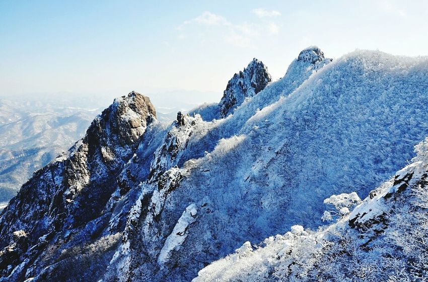 Wolchulsan National Park In Korea Winterwonderland On The Mountain Last Winter Snow Photography Snow❄sky Wintertraining Snowwhite