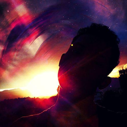 Beautiful evening. Sunset Sky Kathmandu Stars