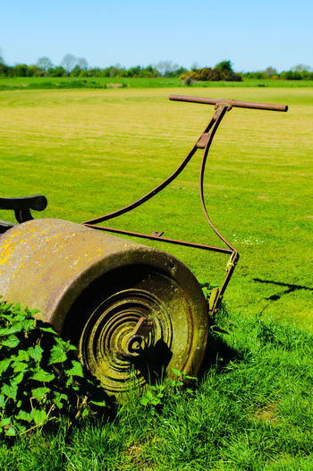 Cricket Field Agricultural Machinery Cricket Green Color Land Machinery No People Rural Scene Tranquil Scene Wheel