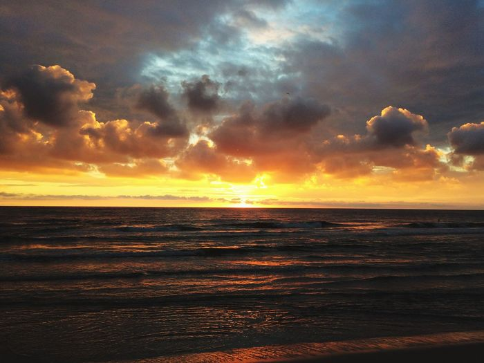 Sunset on Sylt Nordsee Westerland Sylt Sea Sunset Beauty In Nature Scenics Horizon Over Water Nature Tranquil Scene