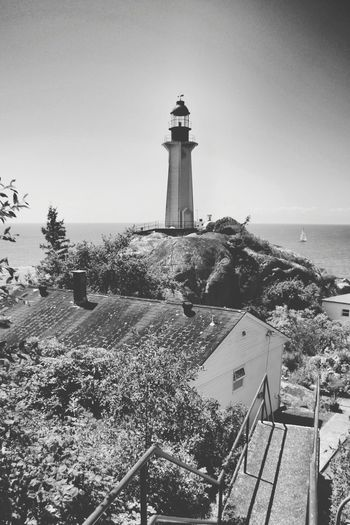 Lighthouse Black And White Architecture