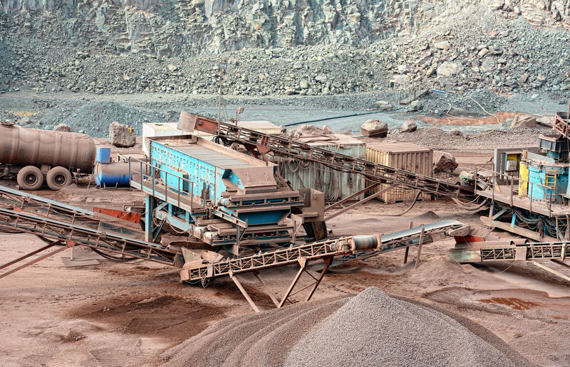 Machineries At Open-Pit Mine