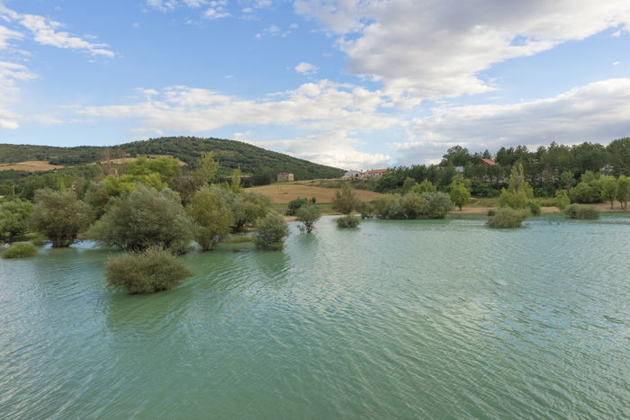 Alloz Beauty In Nature Cloud - Sky Clounds  Day Lake Landscape Mountain Nature Nature Navarra No People Outdoors Scenics Sky SPAIN Tranquility Tree Water Waterfront