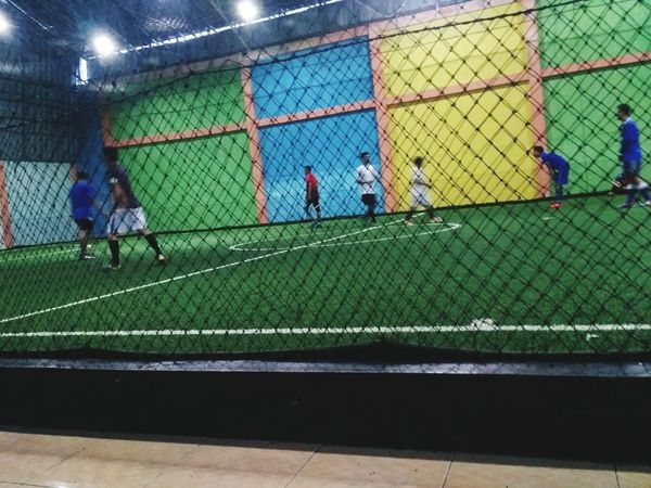 Train Hard, and Play With Heart Futsal Court Futsal Sport Full Length Sportsman Playing Field Men Playing