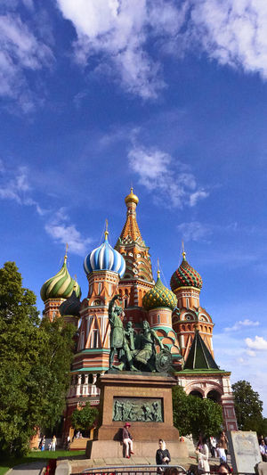 The iconic Saint Basil's cathedral at Red Square in Moscow, the capital of Russian federation. Colors Moscow City Red Square Moscow Russia Russian Churche Summer In Moscow Architecture Building Exterior Built Structure Colorful History Outdoors Religion Religous Buildings Russian Landmark Saint Basil's Cathedral Sky Spirituality Summer Travel Destinations