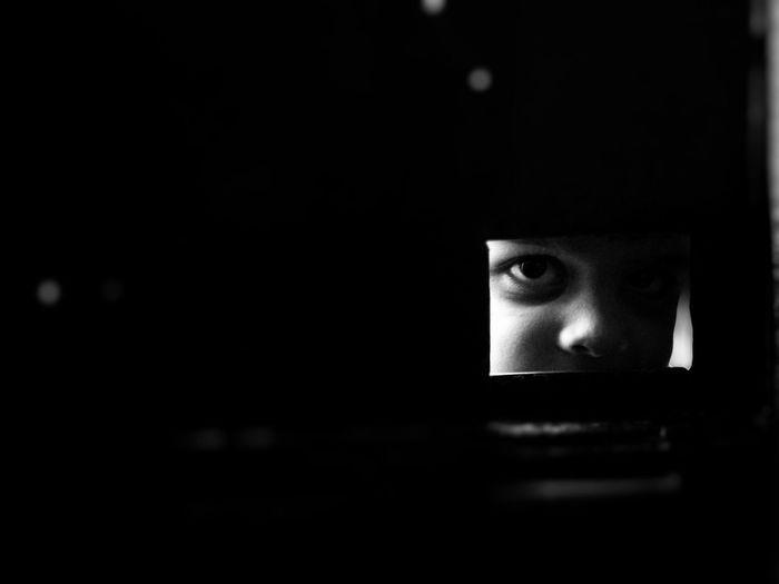 Technology Illuminated Dark Close-up