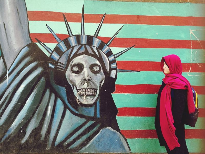 Mural painting outside the former US Embassy in Iran Red Close-up Outdoors Day Mural Mural Art Mural Painting Muralart Mural Paintings Muralpainting Iran Street Photography Iran Irantravel Iranian Art Tehran Tehrangraphy