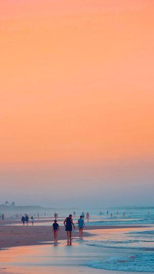 Sunset Walk Sea