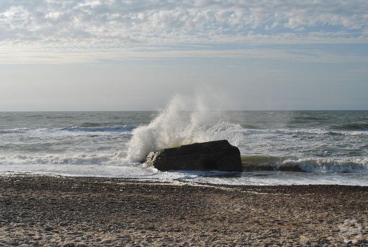 Dänemark Denmark Nofilter#noedit Dänemark Atlantic Wall Atlantikwall Water Power In Nature Wave Sea Beach Crash Force Sand Breaking Motion