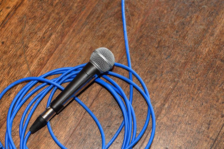 Mic drop Audio Audio Equipment Mic Singing Audiophile Blue Cable Drop Mic Entertainment Mic Drop Microphone Wooden Floor