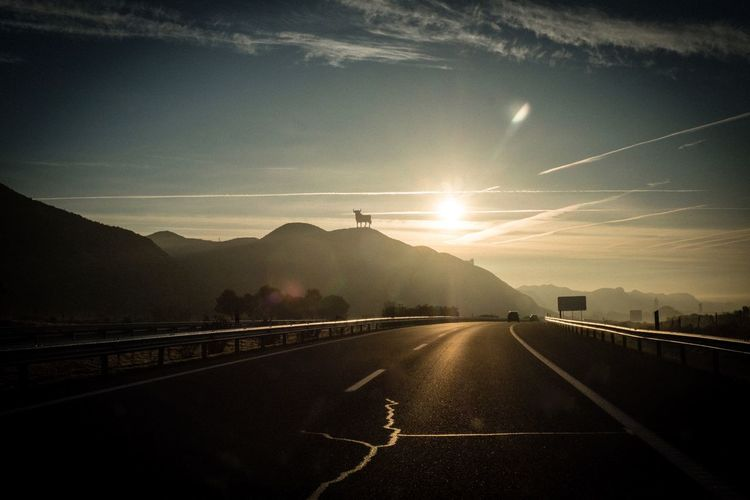 Spain España SPAIN Road Transportation Sky Symbol Direction Marking The Way Forward Road Marking Nature Sign Mountain