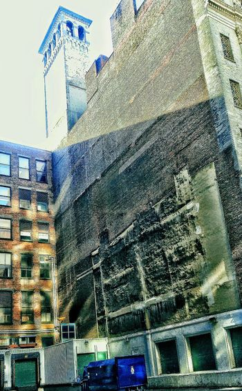 One O'clock Shadow Urban Archeology Built Structure Sky Day No People Outdoors Cast Iron District NYC Street Photography