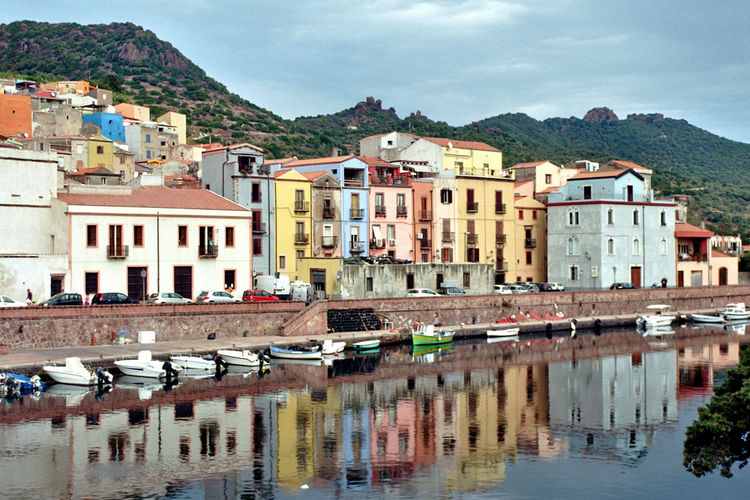 35mm Analogue Photography Architecture Bosa Building Exterior Colourful Colours Houses Italy Kodak Mountain Nikon Old Town Reflection Sardinia Sky Water Waterfront Miles Away Neighborhood Map Neighborhood Map Been There.