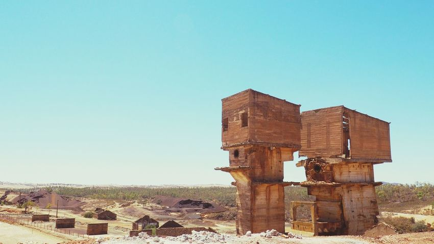 Clear Sky Abandoned No People Architecture Day Desert Outdoors Sky City Nature Astronomy Low Angle View Travel The Graphic City