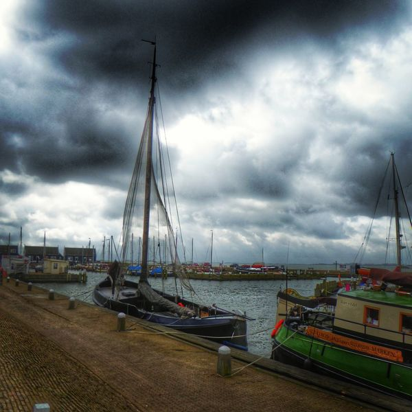 Lumixtz60 Holland Taking Pictures Clouds Clouds Lovers Marken Ijselmeer Boats Weather Noordholland Harbour Harbour Insights