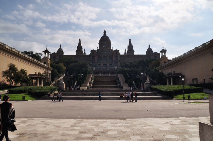 Architecture Building Exterior Built Structure Business Finance And Industry Castell De Montjuic Cultures Day Montjuic Montjuiccastillo Outdoors People Place Of Worship Religion Sky Steps Tourism Travel Travel Destinations Vacations