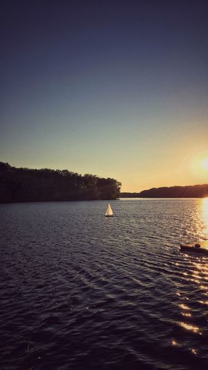 Sunset Sailing ⛵️🌅⛵️😌 Sailboat Connecticut River Tadaa Community Water Sky Scenics - Nature Tranquility Tranquil Scene Beauty In Nature Sunset Idyllic No People Rippled Outdoors