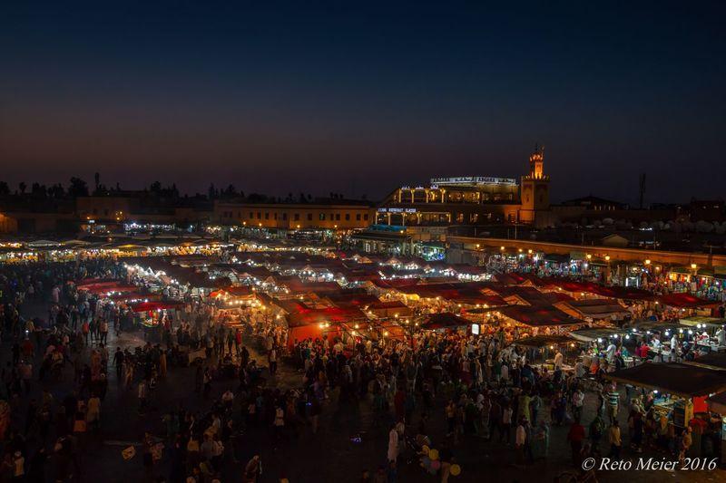 Marokko Marrakech Jemaa El Fnaa Holiday Night Nightphotography Night Lights