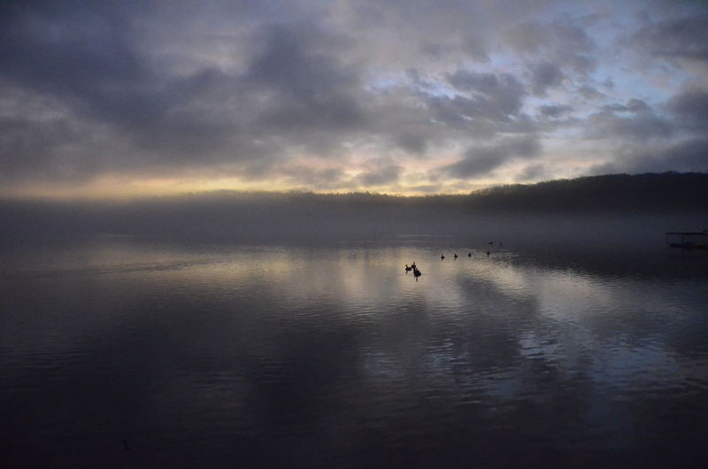 Water Sky Cloud - Sky Beauty In Nature Scenics - Nature Tranquility Tranquil Scene Waterfront Sea Reflection Nature Sunset No People Non-urban Scene Nautical Vessel Idyllic Silhouette Outdoors New Years Day 2019