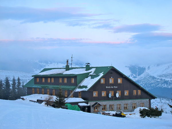 Architecture Beauty In Nature Bouda Bouda Na Plani Building Exterior Built Structure Cloud - Sky Cold Temperature Cottage Day Environment Frozen House Hut Nature No People Outdoors Scenics Sky Snow Tree Winter
