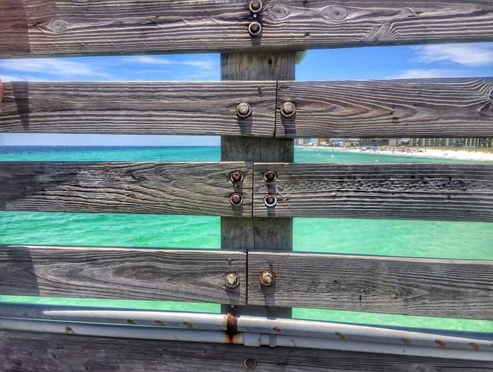 From my point of view Pier Wooden Fence Beach St. Andrews State Park
