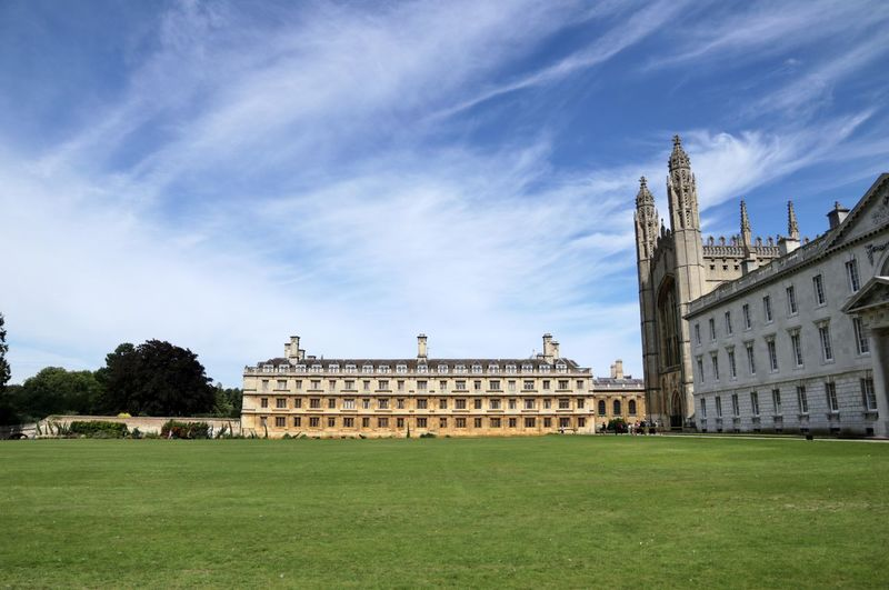 King's college Cambridge Chapel King's College Architecture Building Exterior Built Structure Cambridge Clouds College Day England Grass History Landmark No People Outdoors Sky Tourism Travel Destinations Tree University
