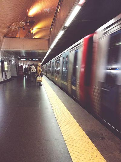 Travel Subway Train Transportation Mode Of Transport Public Transportation Illuminated Subway Station