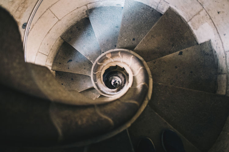 Gaudi Gaudì Architecture Work Architecture Built Structure Close-up Directly Above Fuel And Power Generation Geometric Shape High Angle View Home Indoors  Metal No People Old Pattern Railing Selective Focus Shape Spiral Spiral Staircase Staircase Steps And Staircases