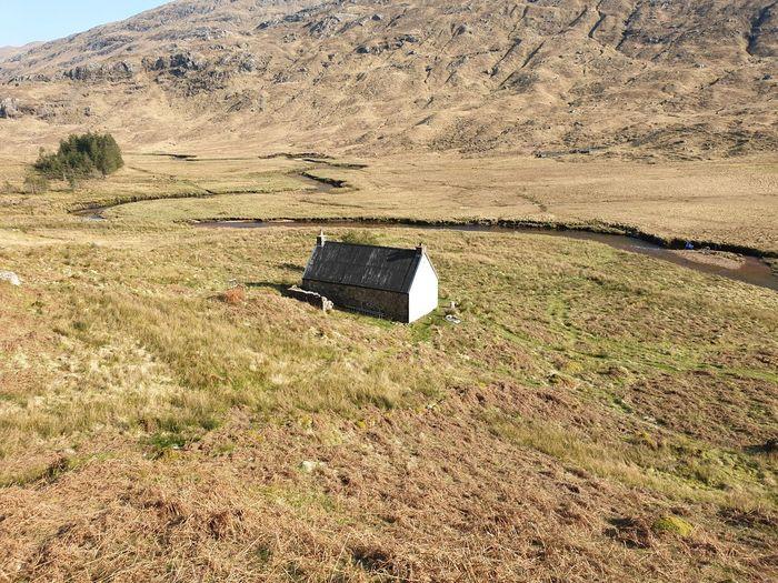 Lifeguard hut on land