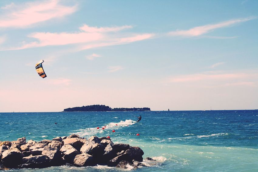 Sea Water Sky Flying Mid-air Horizon Over Water Lifestyles Real People Beauty In Nature Leisure Activity Beach Outdoors Scenics Nature Day Adventure Men One Person Kite Surf Croatia Colors Cool Summer EyeEm Best Shots