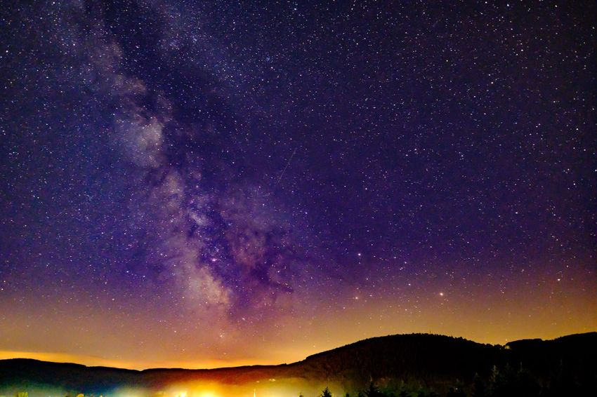 The Week Of Eyeem The Week On Eyem Traveling Summer Space Stars Galaxy Moon Moonlight Night Nightphotography Night Lights Night View Milkyway Tourist City My Favorite Picture  Eye4photography  France Minimalist