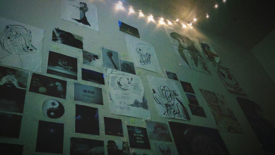 Welcome to my room and my art Grungeroom Bedroom Tumblrgirl Deftonesworld Grunge_effect Relaxation Creepy GrungeStyle Indoors  ArtWork Art, Drawing, Creativity Artistic Dark Indoors  Spooky Only Women Grunge Selfie Tumblr ♡