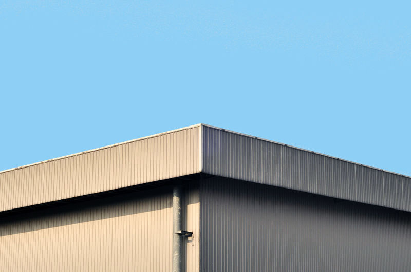 graphic city Factory Industry Built Structure Architecture Warehouse Building Exterior Corrugated Iron Blue No People Outdoors Metal Industry Clear Sky Sky Day EyeEmNewHere