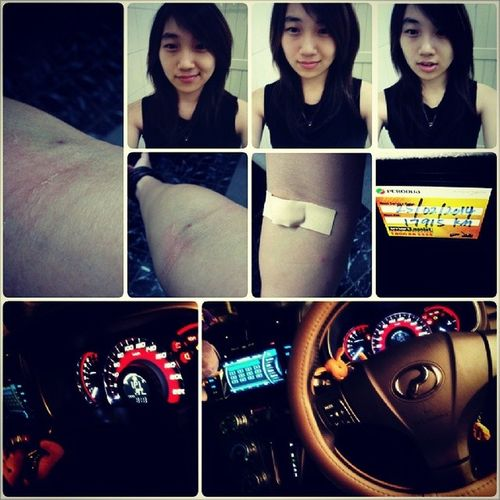 - latepost. . Xray Bloodtest Vssjsbksjsjkej Ihatetheneedles imnotscared arrggggggg sizeofapencil painful ¦'(((((((((( tiring exhausted.. final service for my baby♡ ¦))) TEEHEE 3 servicing done.. instabutt notrelatedtobutt. . but gosh, its a butt wrecking day o_o. . driving all day with me and dad.. and grandma hehehe.. Grandma lectures♥ instagrandma <- jobless.. hahahha