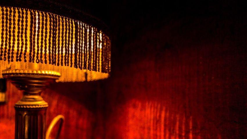 Night Red Lamp Velvet