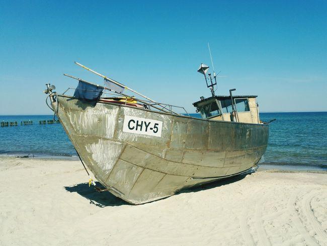 Boat Sea Mielno Plaża